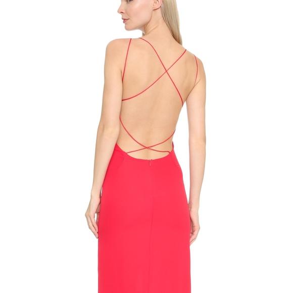 c671375e3de5 Olcay Gulsen Cross Back Maxi Dress in Red
